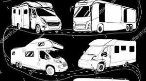 Stock Vector Free Camping Pictures Ix Rv Clipart Black And White Place