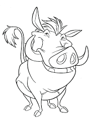 Timon And Pumbaa Coloring Pages Lion King Sheets Character