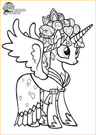 My Little Pony Coloring Pages Princess Cadence Printable Incredible Luna Filly