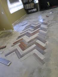 Herringbone Vinyl Plank Flooring Design