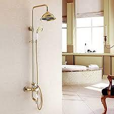 luxurious shower italien design gold finish badezimmer
