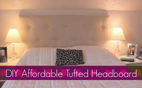 Diamond Tufted Headboard With Crystal Buttons by Diy Easy U0026 Affordable Tufted Headboard Bedroom Decor Youtube