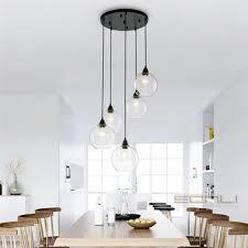 nordic globe clear pendant lights kitchen lighting living