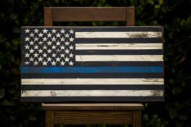 Thin Blue Line Flag Wallpaper