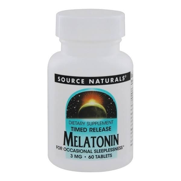 Source Naturals Melatonin Dietary Supplement - 100 Tablets