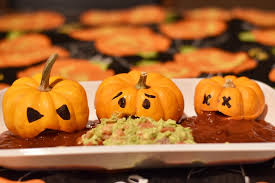 Picture Of Pumpkin Throwing Up Guacamole by Halloween Food Ideas For Your Halloween Party Linda Hoang