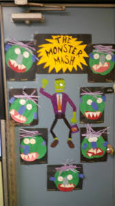 Halloween Door Decorating Contest Ideas by Classroom Halloween Door Decorations Halloween Monster Door