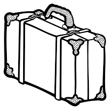 Clipart Suitcase Lineart