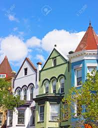 100 Row Houses Architecture Historic Architecture Of Washington DC USA Colorful Residential