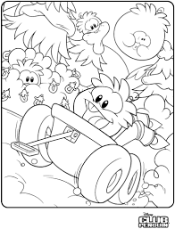 Orange Puffle Coloring Page