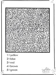Free Printable Paint By Numbers For Adults Nice Color Number Pages