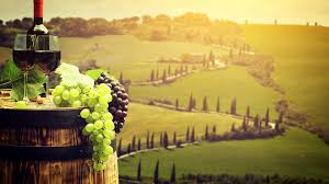 Wallpapers Tuscany Italy Wine Barrel Grapes Fields Food Stemware 3840x2160 Cask