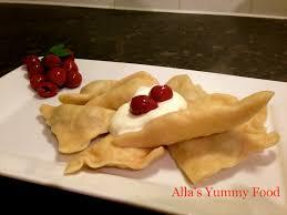 BEST VARENYKI Sweet dumplings stuffed with cherries OR
