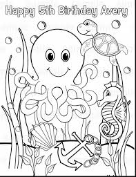 Download Coloring Pages Ocean Animals Incredible With