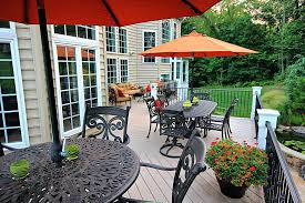 giving new to our wood deck deck and lawn chairs deck and