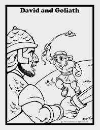 001 David And Goliath 7 Coloring Page