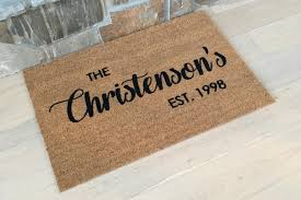 Doormats Wel e Mat Personalized Doormat Family Gift Ideas