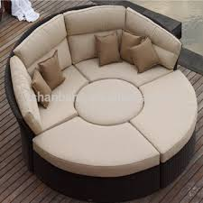 canapé circulaire extérieur en osier rotin meubles de jardin ensemble canapé lit