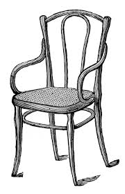 School Chair Clipart Black And White