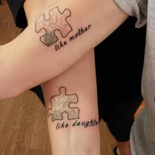 Puzzle Piece Mother Daughter Tattoo