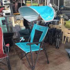 GCI Outdoor Folding Chair With Shade Blue On Carousell