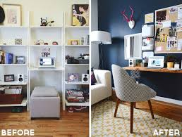 Living Room Makeovers Before And After Pictures by Sg At Home My Office Makeover Style Girlfriend