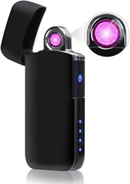nasum arc lighter rotation arc usb electric lighter rechargeable windproof service plasma lighter with battery indicator
