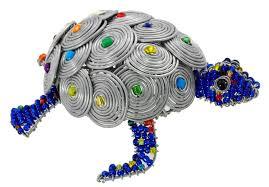 Beaded Wire Art Animal Figurine