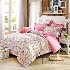 Bed Cover Sets by Amazon Com Cliab Paisley Bedding Pink Twin Or Queen For Teen