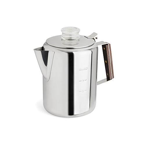 Rapid Brew Stainless Steel Stovetop Coffee Percolator, 2-9 cups