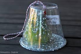 Saran Wrap Christmas Tree With Ornaments by Domestic Charm Homemade Christmas Ornament