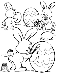 Easter Bunny Coloring Pages Great Printables