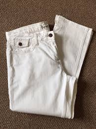 ladies white denim cropped jeans size 10r boden u2022 1 99 picclick uk