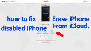 Erase Disabled iPhone from iCloud How to Fix Disabled iPhone from
