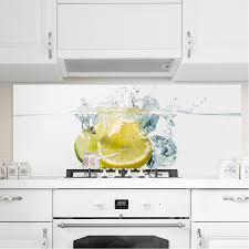 bilderwelten spritzschutz glas zitrone und limette im