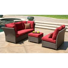 Patio Chair With Hidden Ottoman by Furniture Charming Aluminum Sectional Sofa Set Aluminum Frames