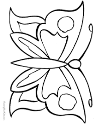 Butterfly Photo In Coloring Page
