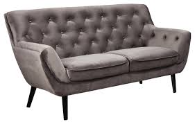 chesterfield 2 5 sitzer sofa grau schwarz samt