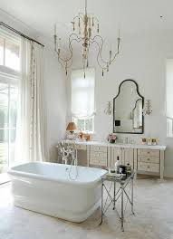 Chandelier Over Bathroom Vanity by French Candle Chandelier Over Tub In Center Of Room French