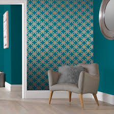 eternity teal and gold wallpaper large tapete petrol