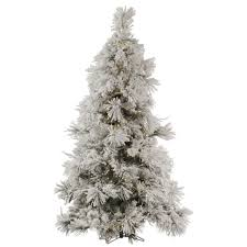 Choosing Artificial Christmas Tree Gorgeous Small White Flocked Designed With Lights
