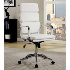 furniture of america konan padded high back office chair free