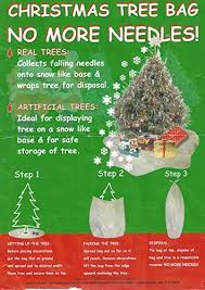 Christmas Tree Bags NEEDLE FREE Solution Making Removal Easy Made In UK