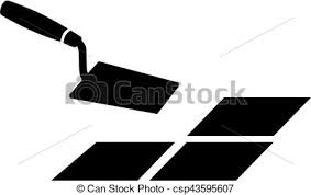 Trowel With Tile Vector