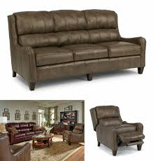 Flexsteel Power Reclining Couch by Potomac Furniture Company Specials