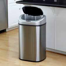 Under Cabinet Trash Can With Lid by Automatic Touchless Trash Can Walmart Com