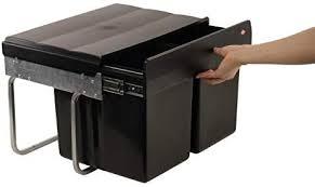 wesco niedriger mülleimer küche ausziehbar 2 x 15 l einbaumülleimer abfallsystem einbau abfallsammler trennsystem bodenmontage 2 er trennung