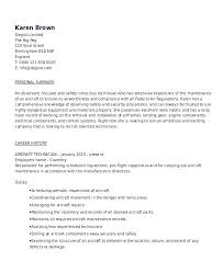 Maintenance Resume Objective Examples Internship Engineering Mechanical