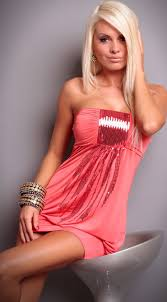coral party dress c5828