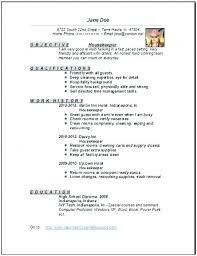 Resume For Housekeeping Job Hospital Sample Housekeeper Manager